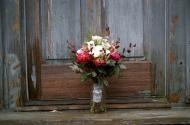 The bridal bouquet.