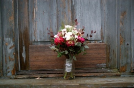 The bridal bouquet.