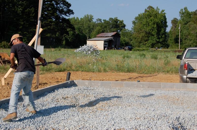 Jonathan throwing gravel around!
