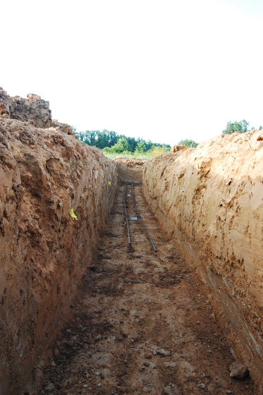 The footers were deep due to a good thick layer of clay at the top