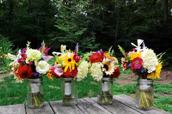 Bridesmaid's bouquets.