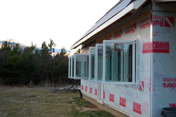 south side windows for passive solar heat