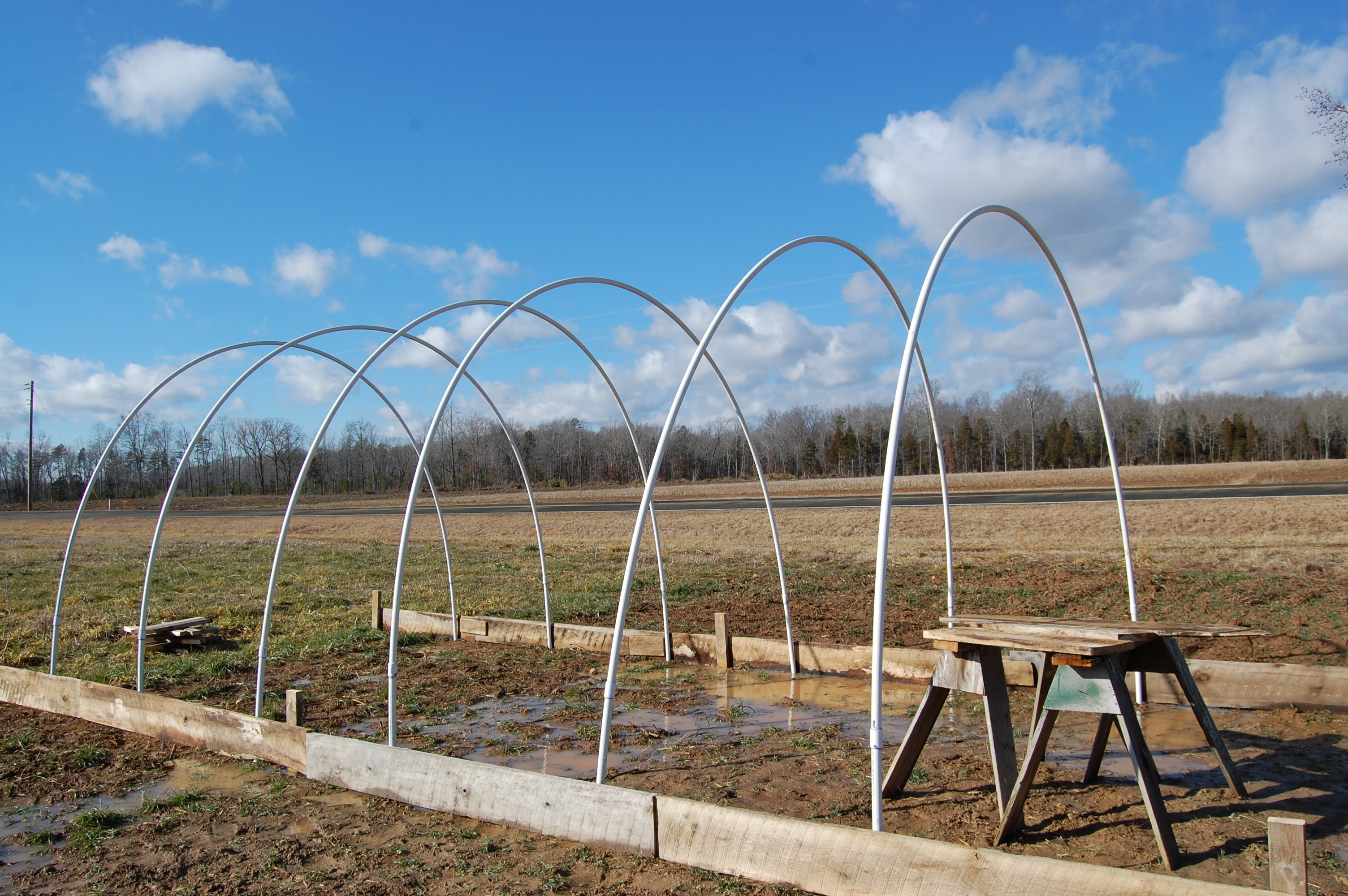 Our New Hoop House Spring Forth Farm Of North Carolina