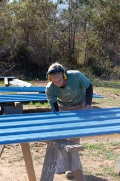 Blue metal siding!