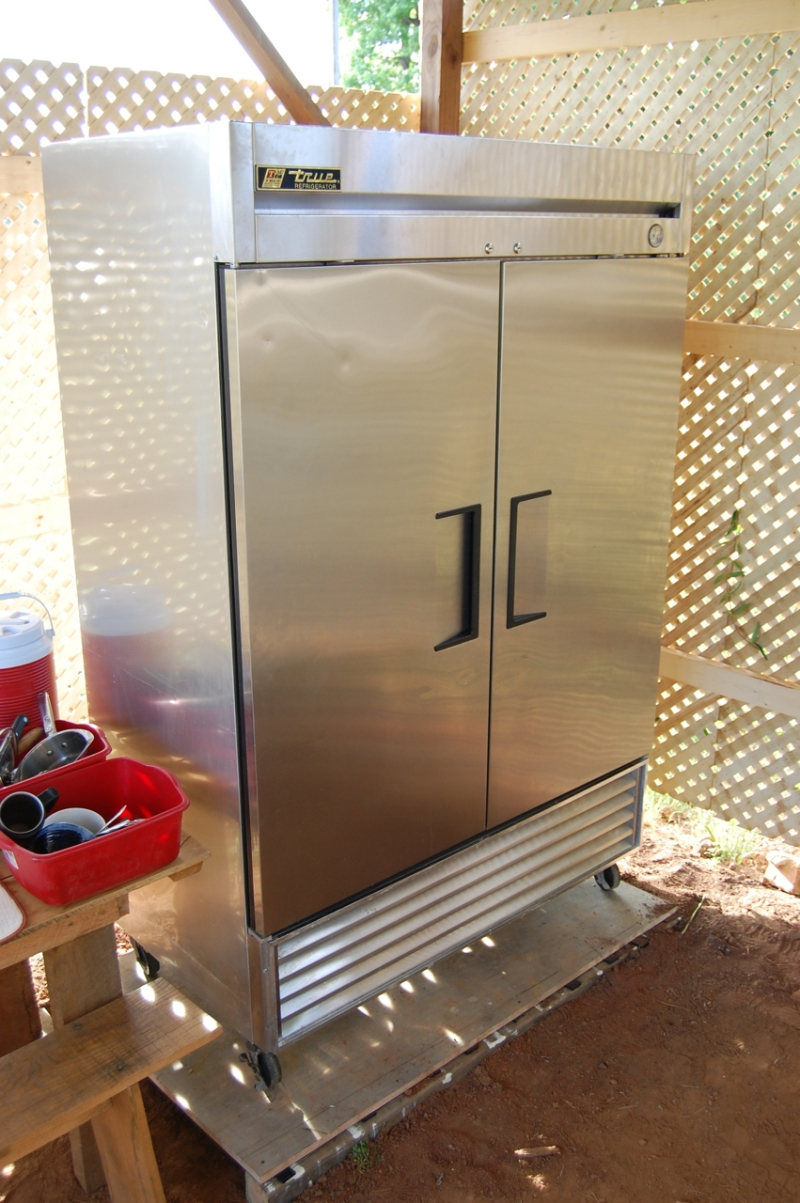 Our new two-door reach-in commercial fridge.