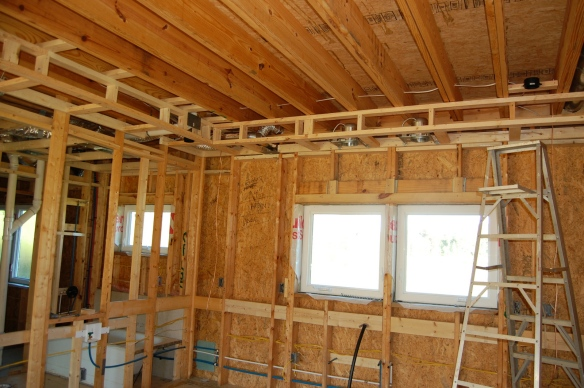 This soffit hides ducts and plumbing. It also adds nice definition to the kitchen.
