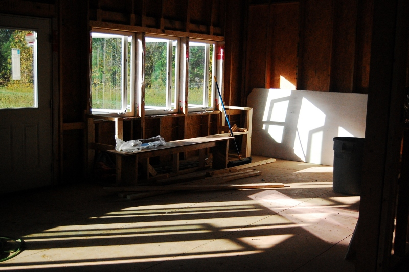 Hello solar gain! We can't wait to sit in our window seat in the winter.