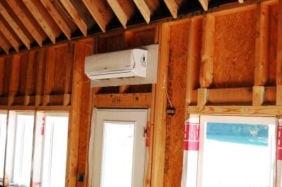 The sleek indoor units are efficient and quiet.