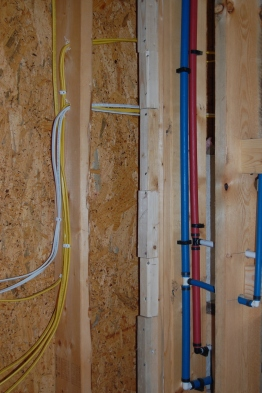 Wiring and water supply.