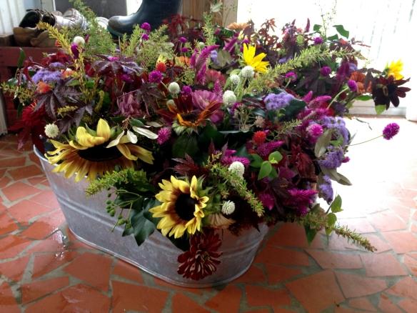 Aspen and Jack's DIY flower arrangements.