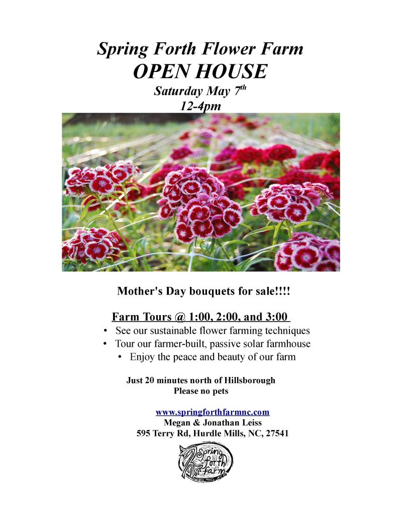 May 7th 2016 Open House Flyer