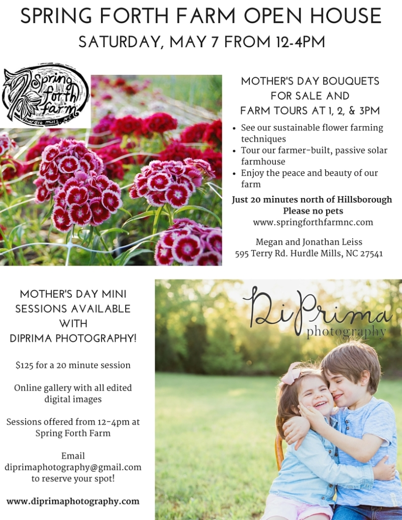 Spring Forth Farm Open House Flyer